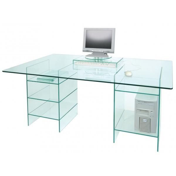 Mesas de despacho de cristal dise os arquitect nicos for Mesas de despacho de cristal